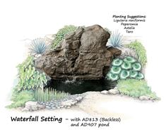 Picture of Waterfall Rock AD813