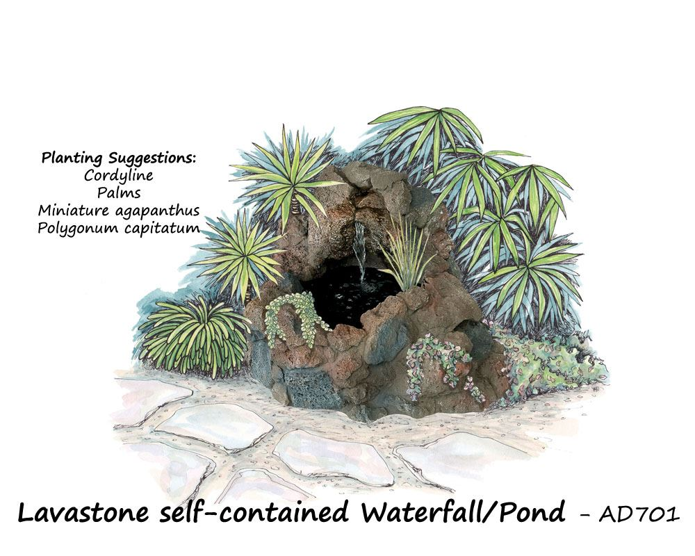 Lavastone Waterfall Pond Cempro Limited Innovative Fibre Cement Products Auckland